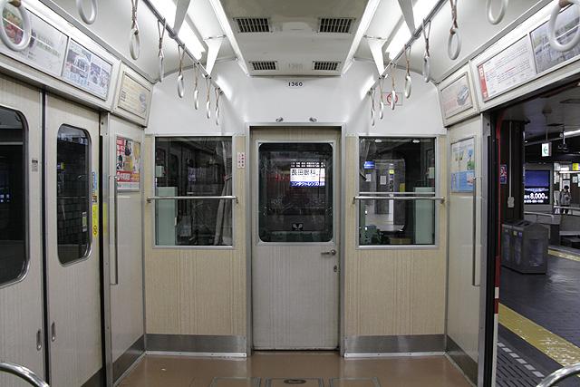 神鉄1350形(未更新車)運転台背面