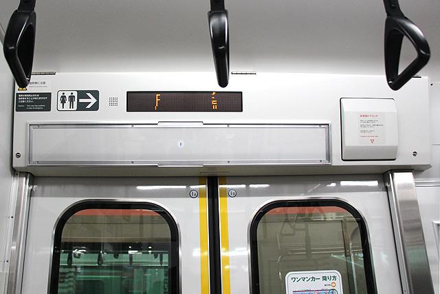 JR東日本E129系 LED車内案内装置