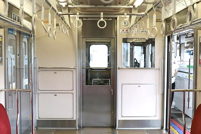 東急8500系(軽量車)乗務員室背面