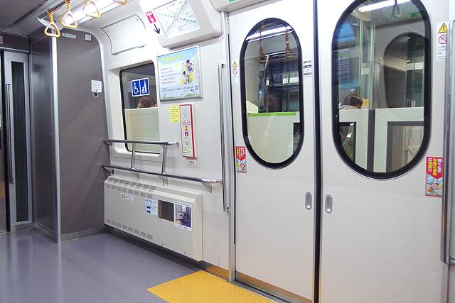 仙台市地下鉄2000系 車いすスペース