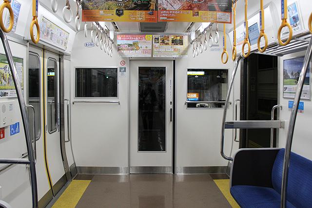 南海8300系(2次車)乗務員室背面