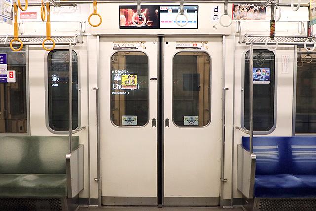 西武6000系(ステンレス車、直通対応)客用ドア、戸袋窓