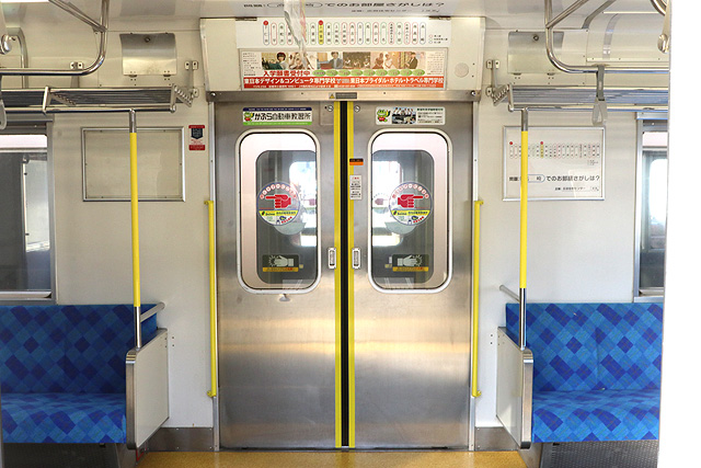 上信電鉄700形 客用ドア