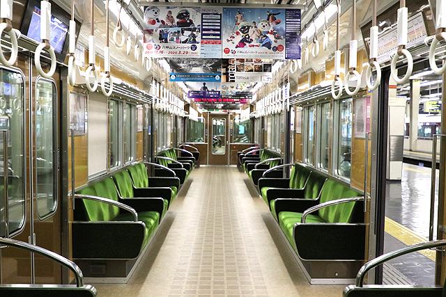 阪急7000系(VVVF化リニューアル車)車内デザイン