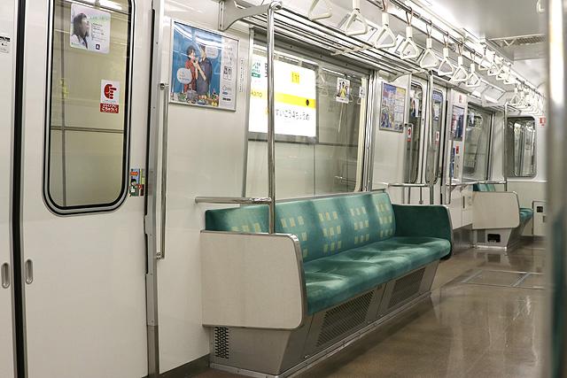 Osaka Metro 80系 座席、袖仕切り