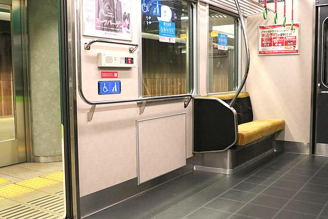 京阪6000系(リニューアル車) 車いすスペース