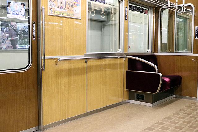 阪急7000系(VVVF化リニューアル車)車いすスペース