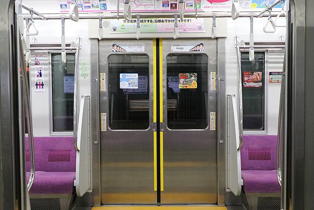 京王7000系(2連ワンマン車)客用ドア