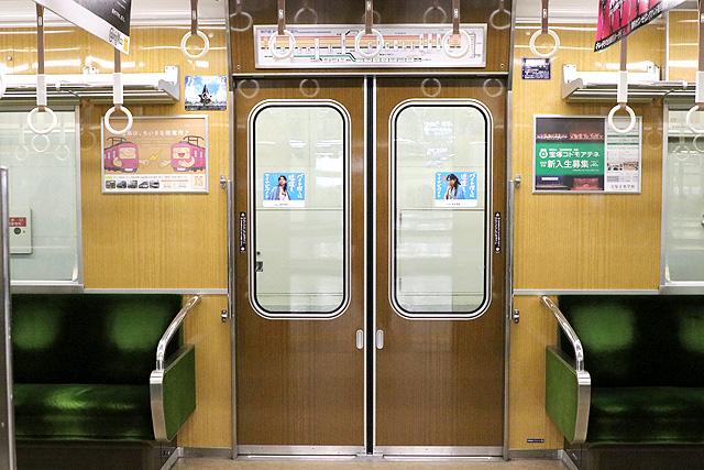 阪急7000系(VVVF化リニューアル車)客用ドア