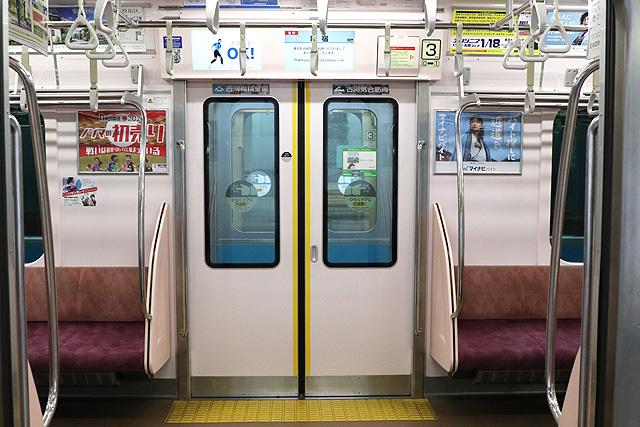 小田急4000形 客用ドア