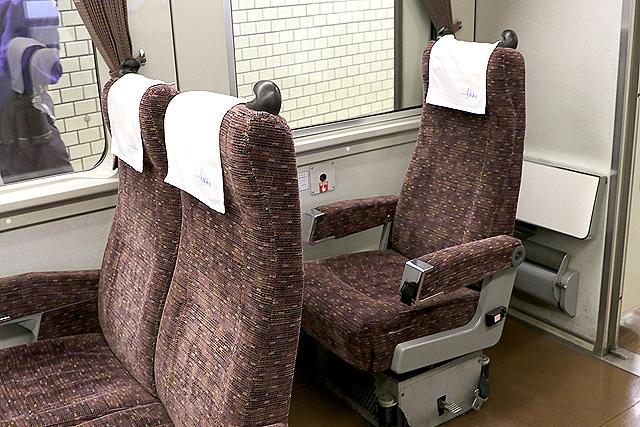 東武200系 車いす対応リクライニングシート