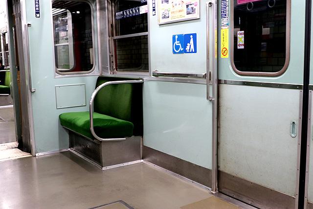 神鉄1370形 車いすスペース