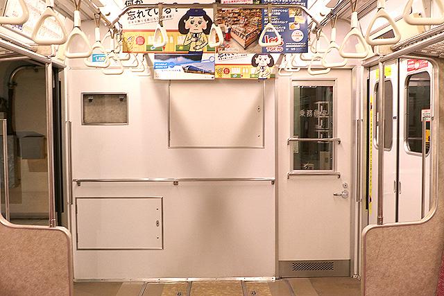 東京メトロ7000系(初期車)乗務員室背面
