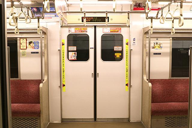 東京メトロ7000系(初期車)客用ドア