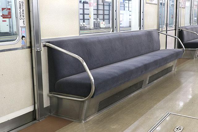 南海6200系(第1編成)座席、袖仕切り