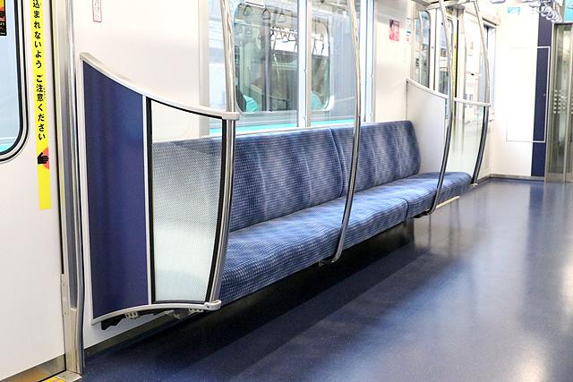 東京メトロ16000系(4次車~)座席、袖仕切り、スタンションポール