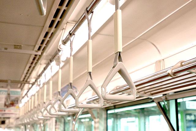 多摩モノレール1000系 吊革