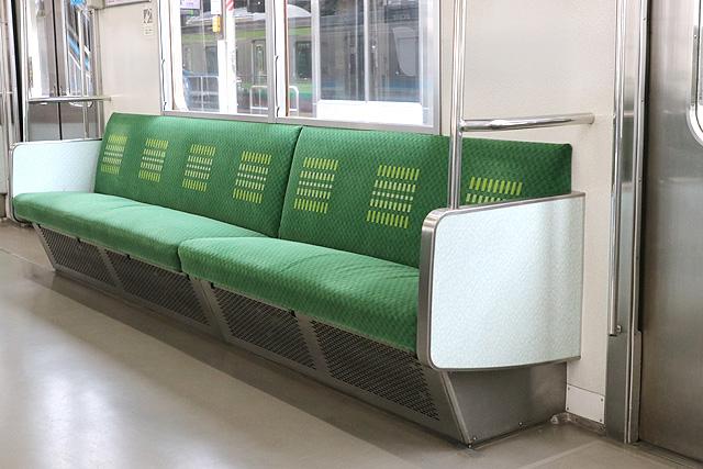 JR東日本205系500番台 座席、袖仕切り