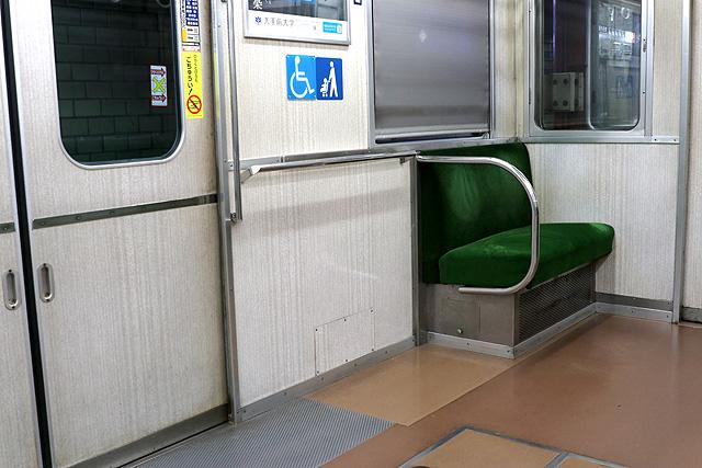 神鉄3000系(前期型)車いすスペース