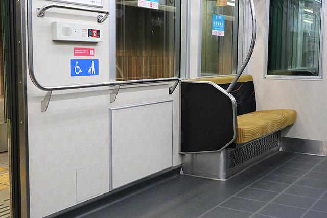 京阪13000系(2016年~増備車)車いすスペース