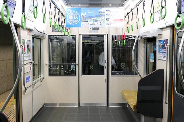 京阪13000系(2016年~増備車)乗務員室背面
