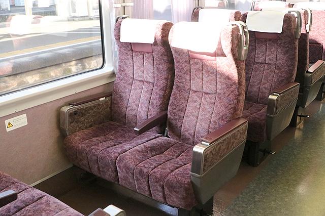 JR東海373系 座席 回転式リクライニングシート