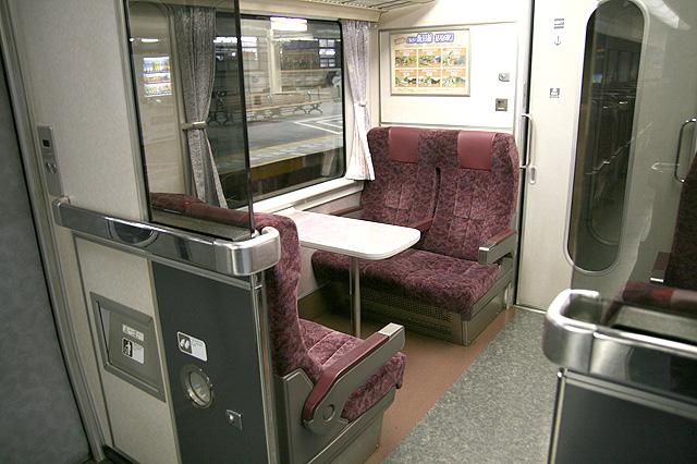 JR東海373系 座席 車端部ボックスシート(テーブル付き)