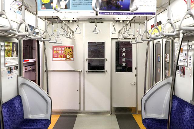 東武50050系(初期車)乗務員室背面