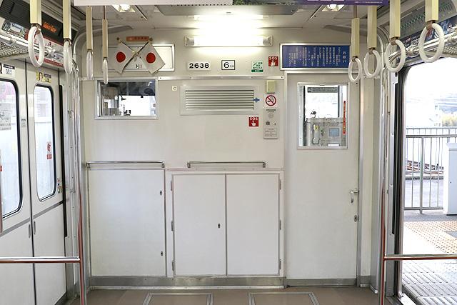 Osaka Metro 20系 乗務員室背面