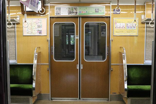 能勢電鉄7200系 客用ドア