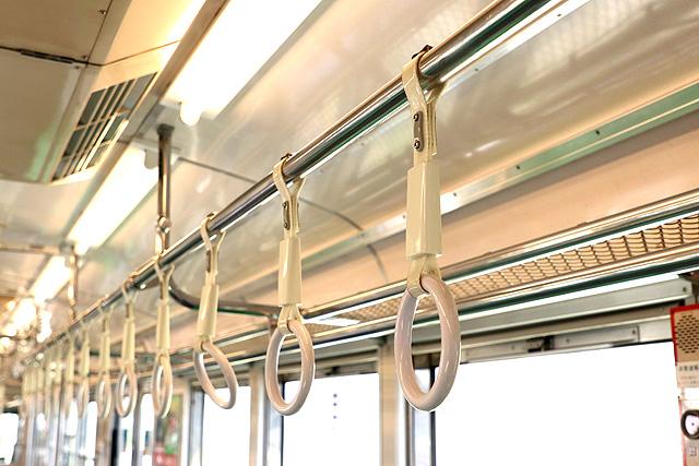 養老鉄道7700系(2両編成)吊革