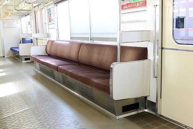 名鉄3700系(2次車)座席、袖仕切り、カーテン