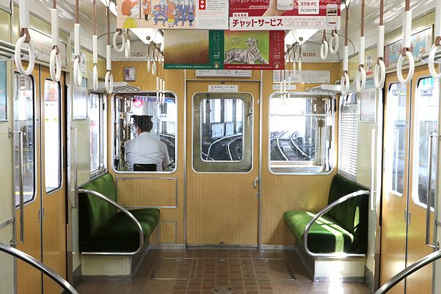阪急5100系 乗務員室背面
