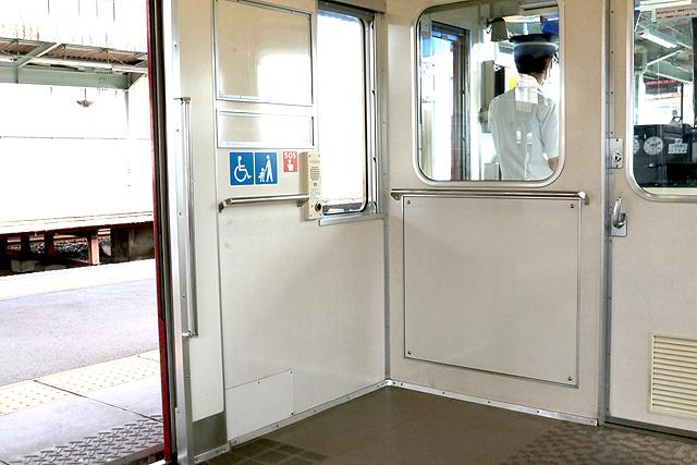 名鉄3700系(2次車)車いすスペース