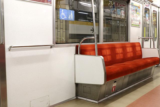 名古屋市営地下鉄5050形 車いすスペース