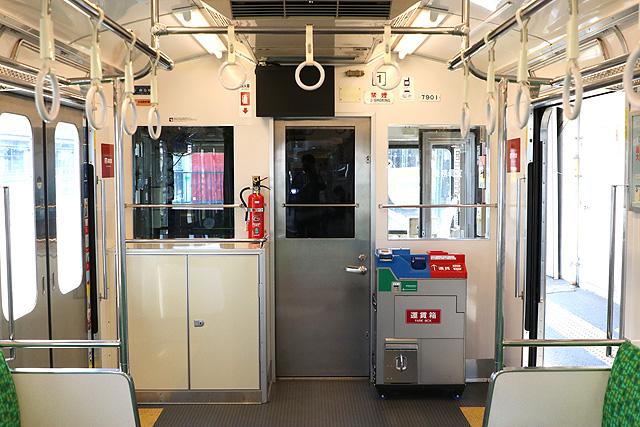 養老鉄道7700系(2両編成)乗務員室背面