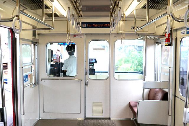 名鉄3700系(2次車)乗務員室背面