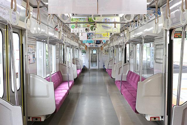 北総鉄道7500形 車内デザイン