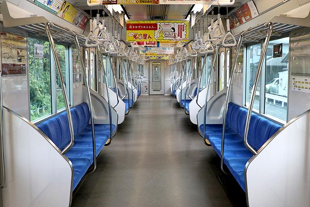 名古屋市営地下鉄N3000形(ステンレス車)車内デザイン
