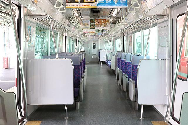 名鉄2300系車内