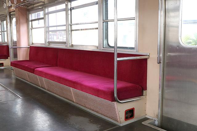 関東鉄道キハ532形 座席、袖仕切り