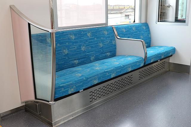山陽6000系 優先座席、仕切り板