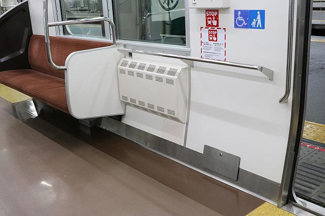南海8300系(1次車)車いすスペース