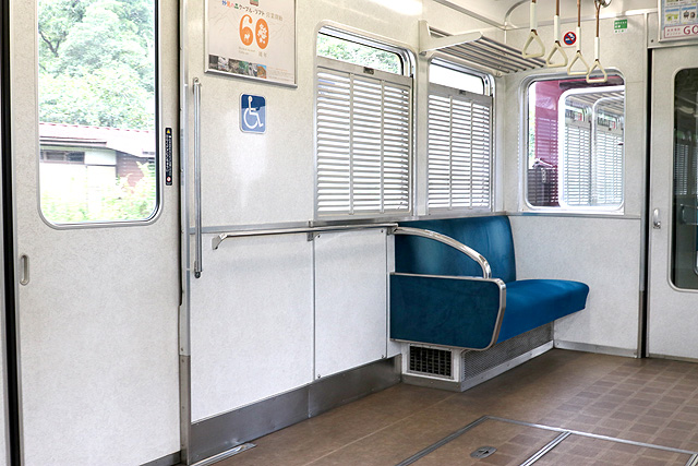 能勢電鉄3100系 車いすスペース