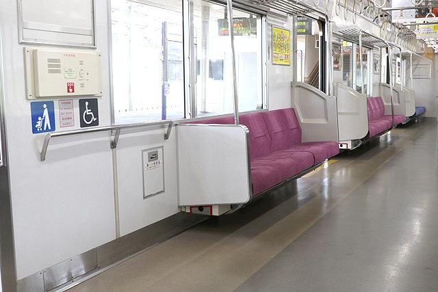 北総鉄道7500形 車いすスペース