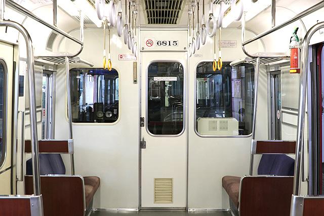 名鉄6800系(3・4次車)乗務員室背面
