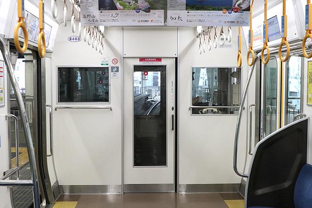 南海8300系(1次車)乗務員室背面