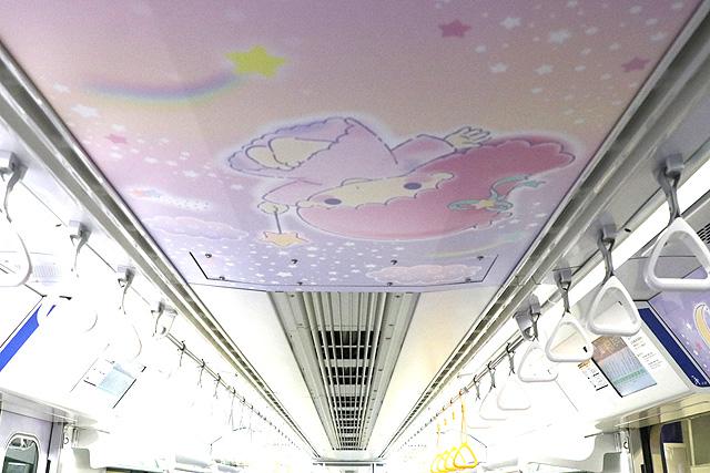 東京モノレール10000形 キキ&ララ モノレール 天井部