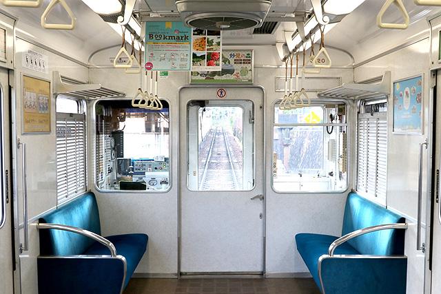 能勢電鉄3100系 乗務員室背面