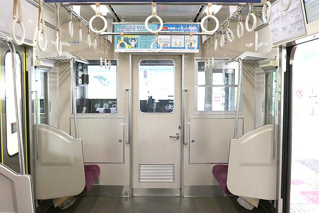 北総鉄道7500形 乗務員室背面